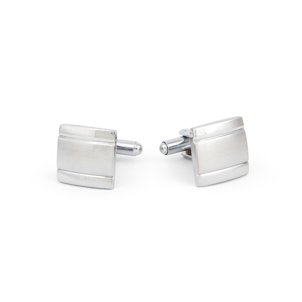 Classic Square Grooved Cufflinks - alternative view - University graduation gift