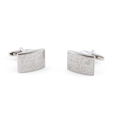Laser Swirl Pattern Cufflinks - main view - University graduation gift