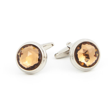 Cut Copper Glass Cufflinks - main view - University graduation gift