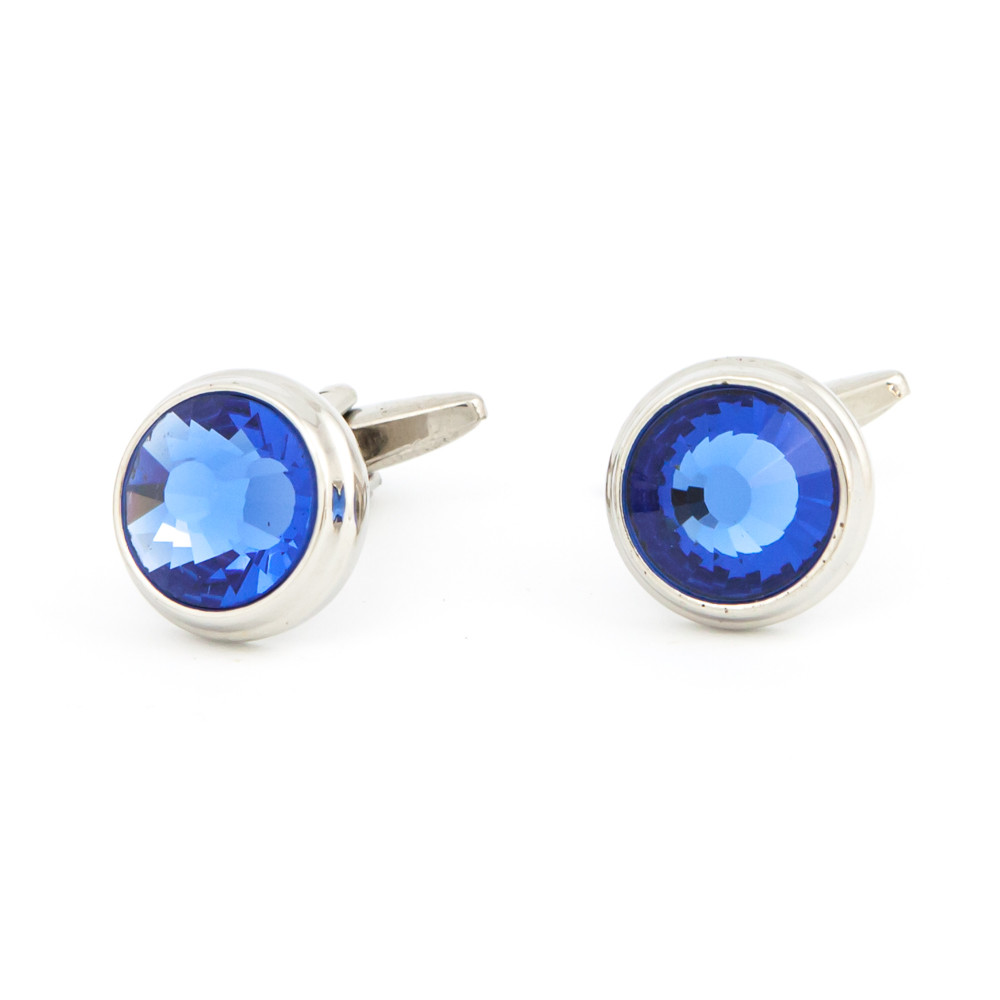 Cut Blue Glass Cufflinks - main view - University graduation gift