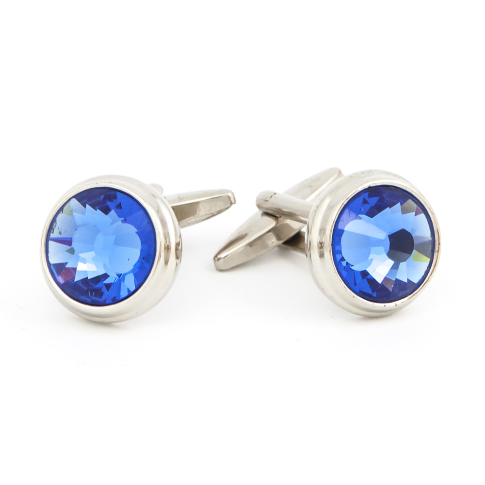 Cut Blue Glass Cufflinks - alternative view - University graduation gift