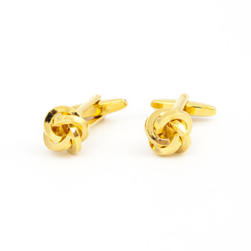 Gold Knot Cufflinks - main view - University graduation gift