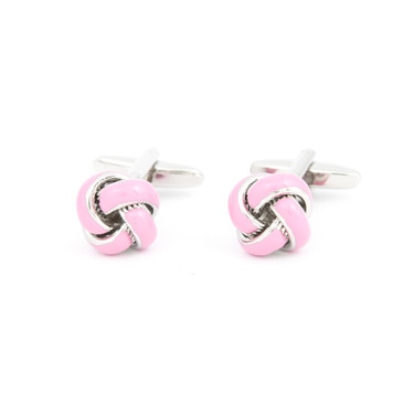 Pink Enamel Knot Cufflinks - main view - University graduation gift