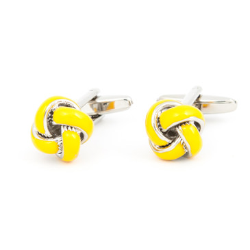 Gold Enamel Knot Cufflinks - main view - University graduation gift