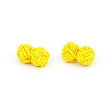 Gold Fabric Knot Cufflinks - main view - University graduation gift