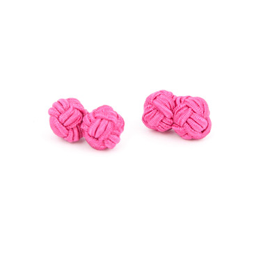 Pink Fabric Knot Cufflinks - main view - University graduation gift