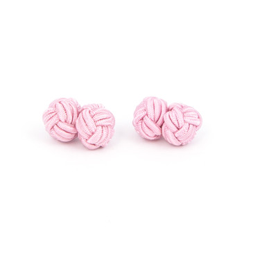 Light Pink Fabric Knot Cufflinks - main view - University graduation gift