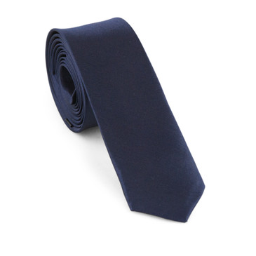Navy Satin Necktie (Skinny) - main view - University graduation gift
