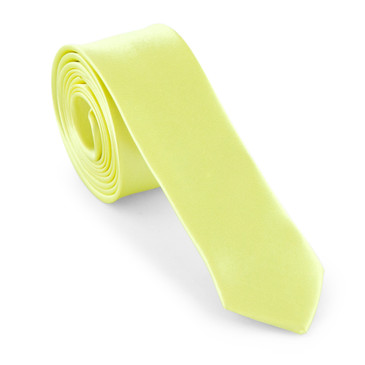 Yellow Satin Necktie (Skinny) - main view - University graduation gift