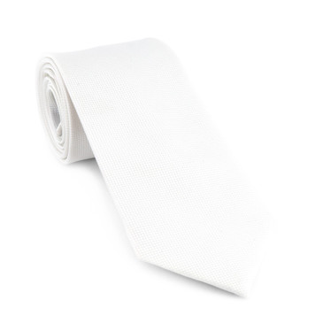 Classic White Necktie - main view - University graduation gift