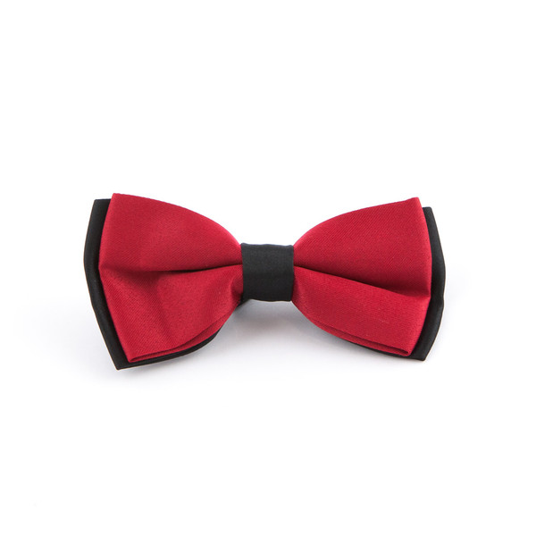 Two-Tone Red and Black Bowtie - main view - University graduation gift