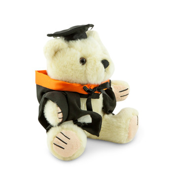 ANU Bachelor Bear - Asia and the Pacific; pictured in small size and with matching hood