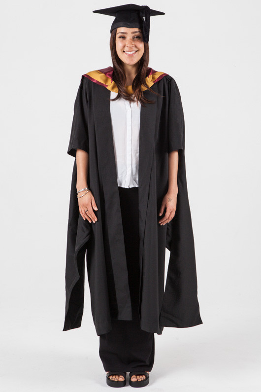ee65242ec48 Masters Graduation Gown Set for UNSW - Engineering - Front view