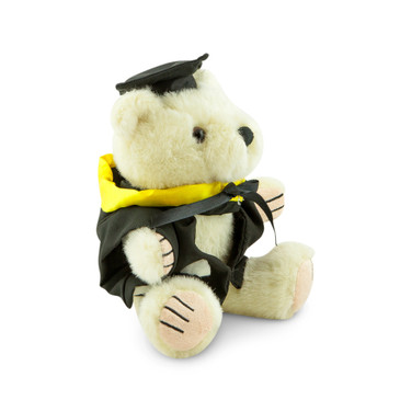 University of Melbourne Masters Bear - Engineering; pictured in small size and with matching hood