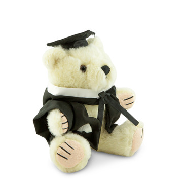 University of Melbourne Masters Bear - Law; pictured in small size and with matching hood