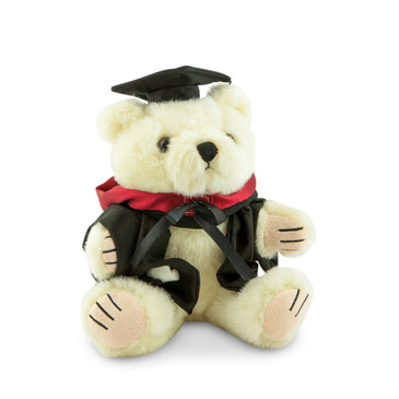 University of Melbourne Masters Bear - Medicine; pictured in small size and with matching hood