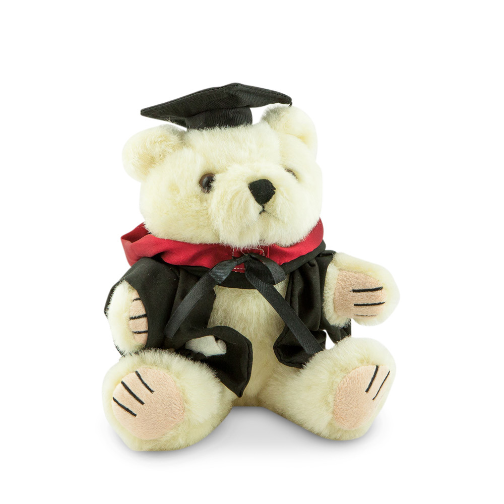 University of Sydney Bachelor Bear - Engineering; pictured in small size and with matching hood
