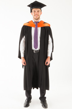 University of Tasmania Bachelor Graduation Gown Set - Commerce - Front view