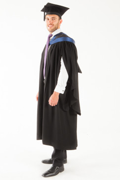 University of Tasmania Bachelor Graduation Gown Set - Humanities and Social Sciences - Front angle view