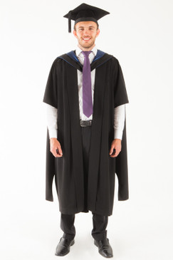 University of Tasmania Masters Graduation Gown Set - Humanities and Social Sciences - Front view
