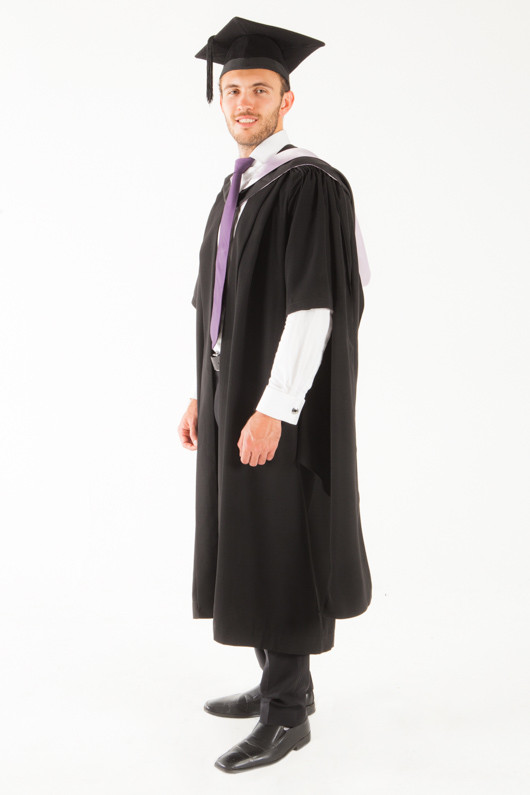 University of Tasmania Masters Graduation Gown Set - Medicine and Surgery - Front angle view