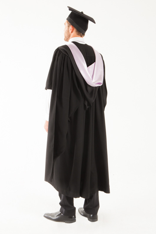 University of Tasmania Masters Graduation Gown Set - Medicine and Surgery - Back angle view