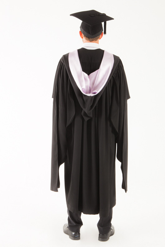 University of Tasmania Masters Graduation Gown Set - Medicine and Surgery - Back view