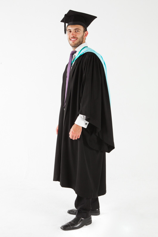 Monash University Bachelor Graduation Gown Set - Business and Economics - Front angle view
