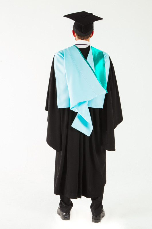 Monash University Bachelor Graduation Gown Set - Business and Economics - Back angle view