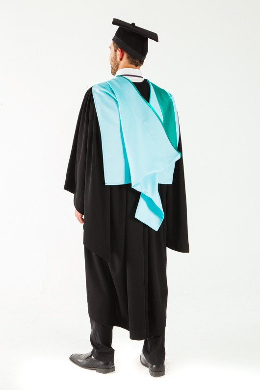 Monash University Bachelor Graduation Gown Set - Business and Economics - Back view