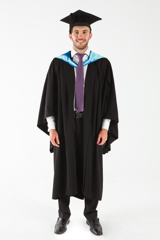 Monash University Bachelor Graduation Gown Set - Medicine, Nursing and Health Sciences - Front view