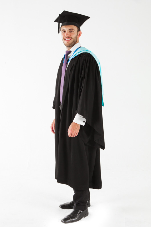 Monash University Bachelor Graduation Gown Set - Medicine, Nursing and Health Sciences - Front angle view