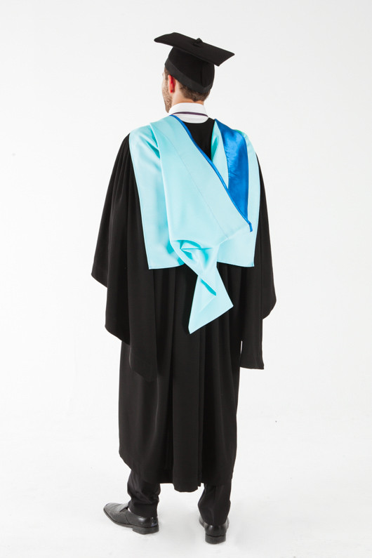 Monash University Bachelor Graduation Gown Set - Medicine, Nursing and Health Sciences - Back angle view