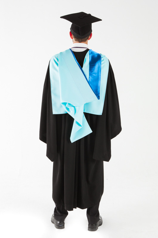 Monash University Bachelor Graduation Gown Set - Medicine, Nursing and Health Sciences - Back view
