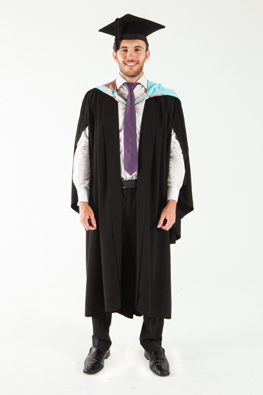 Monash University Bachelor Graduation Gown Set - Engineering - Front view