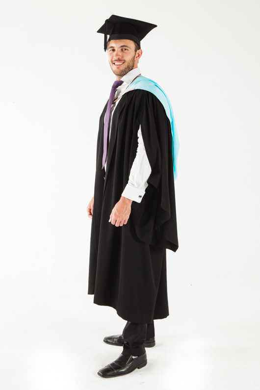Monash University Bachelor Graduation Gown Set - Engineering - Front angle view