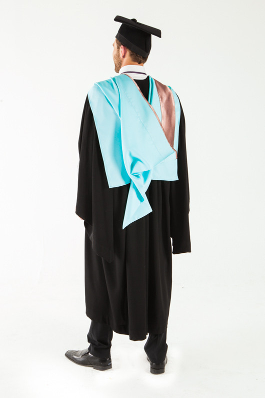 Monash University Bachelor Graduation Gown Set - Engineering - Back angle view