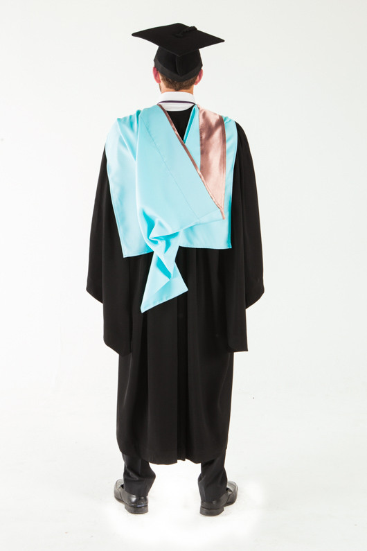 Monash University Bachelor Graduation Gown Set - Engineering - Back view