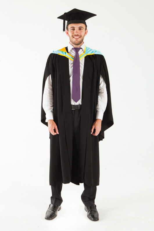 Monash University Bachelor Graduation Gown Set - Pharmacy and Pharmaceutical Sciences - Front view