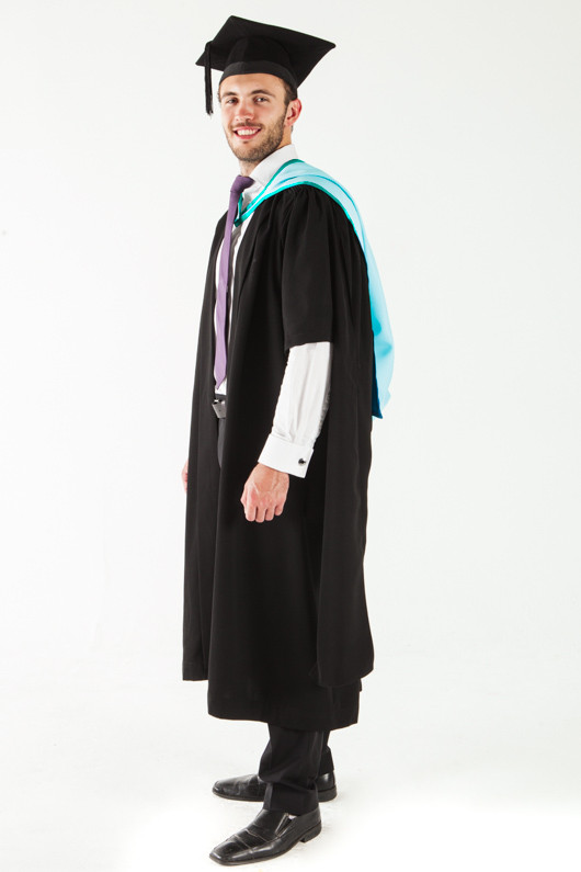 Monash University Masters Graduation Gown Set - Business and Economics - Front angle view