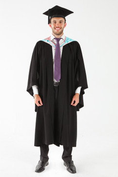 Monash University Masters Graduation Gown Set - Arts - Front view