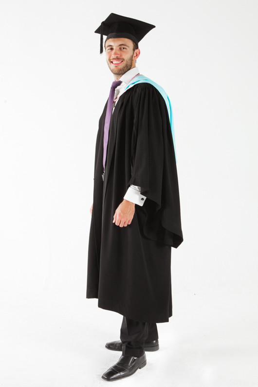 Monash University Masters Graduation Gown Set - Arts - Front angle view