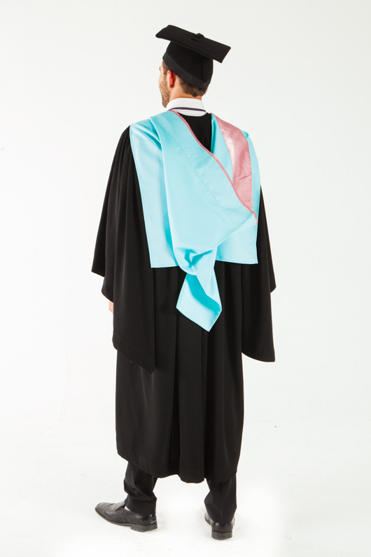 Monash University Masters Graduation Gown Set - Arts - Back angle view
