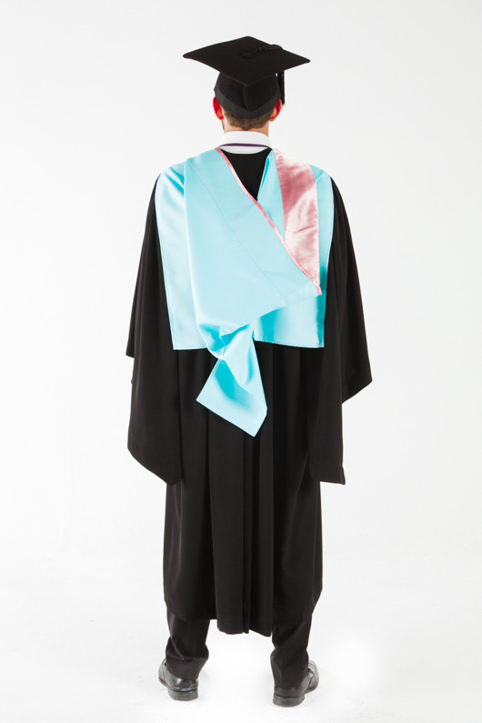 Monash University Masters Graduation Gown Set - Arts - Back view
