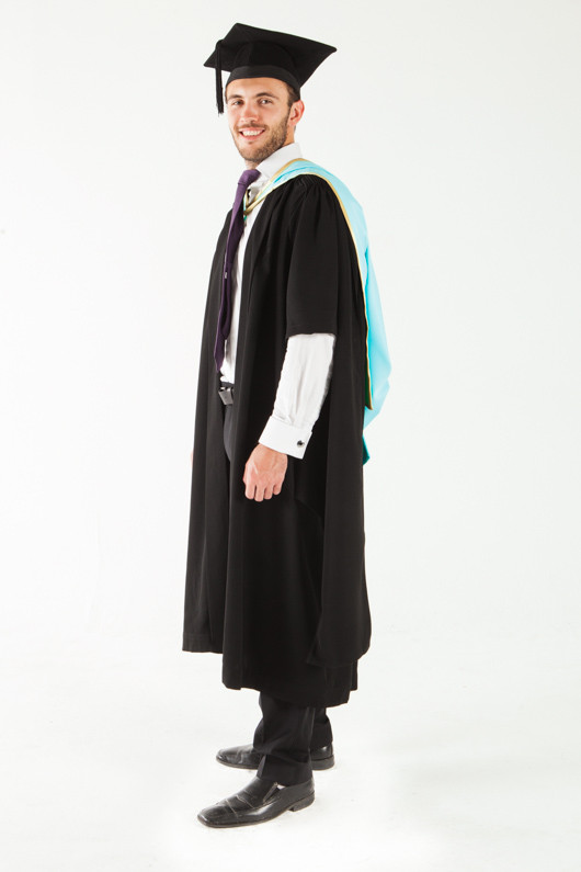 Monash University Masters Graduation Gown Set - Science - Front angle view