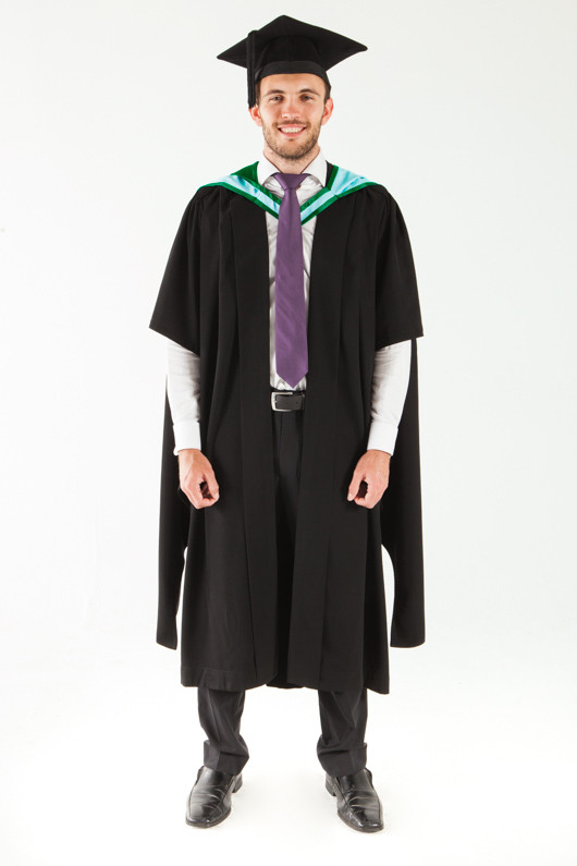 Monash University Masters Graduation Gown Set - Information Technology - Front view