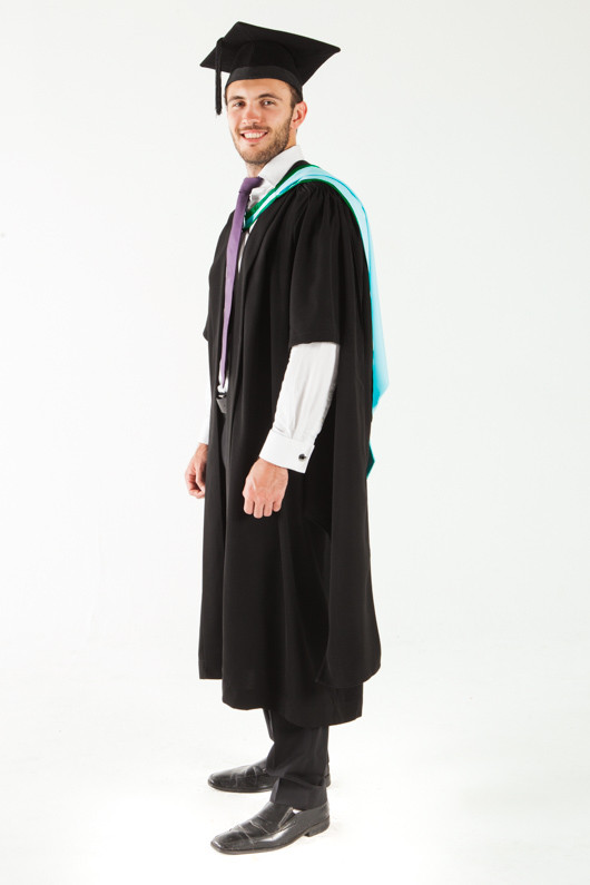 Monash University Masters Graduation Gown Set - Information Technology - Front angle view
