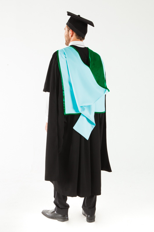 Monash University Masters Graduation Gown Set - Information Technology - Back angle view