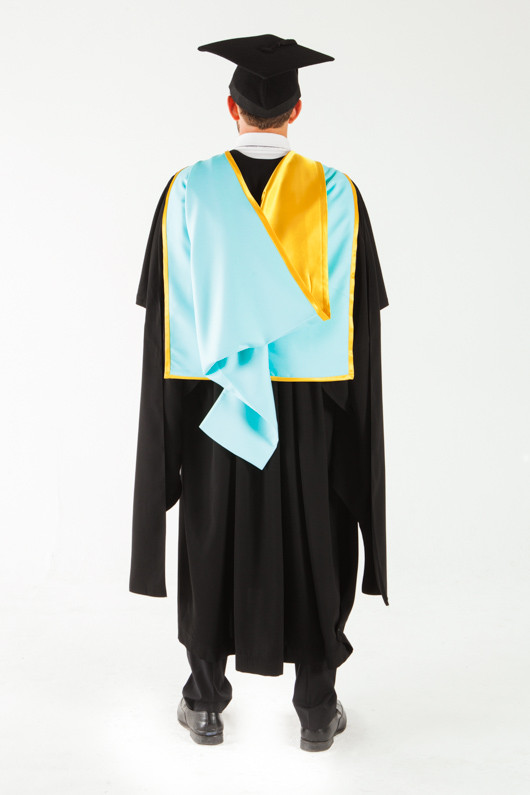 Monash University Masters Graduation Gown Set - Pharmacy and Pharmaceutical Sciences - Back view
