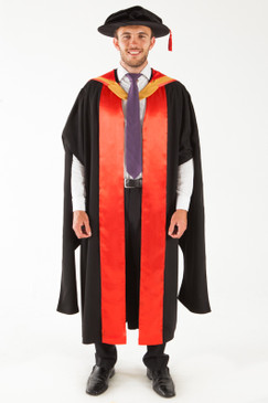 UNSW Doctor Graduation Gown Set - PhD - Front view